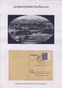 Kaufbeuren - Landpoststellen, Sammlung (90 versch. Belege)