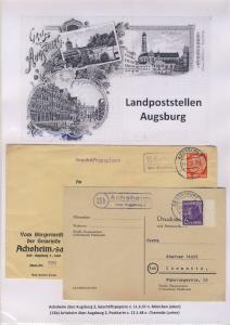 Augsburg - Landpoststellen, Sammlung (121 versch. Belege)