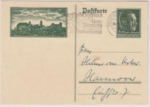 DR - Seestadt Rostock 2 - Neue Rennbahn - Volksrenntag, Masch.werbestpl. 1938 a.