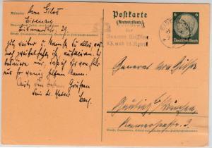 DR - Eisenach 1935, Volkstag d. Inneren Mission, Masch.werbestpl. GA-Karte n.