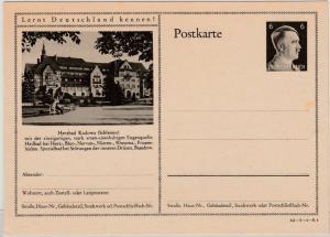 DR - 6 Pfg. AH Bild-GA-Karte (Herzbad Kudowa), ungebraucht