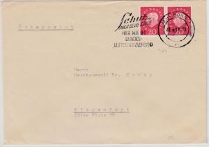 BRD - 20 Pfg. Heuss III, waagr. Paar, Brief n. ÖSTERREICH Bonn - Klagenfurt 1961
