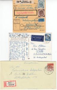 BRD - Dauerserien 50/60er Jahre, kl. Pöstchen, interess. Frankturen