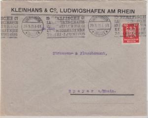 DR - Ludwigshafen, Pfälz. Landwirtschafts-Ausstellung 1925, Masch.werbestpl. a.