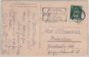 DR - Ausstellung Das Deutsche Porzellan, Masch.werbestpl. Karte Wiesbaden 1928