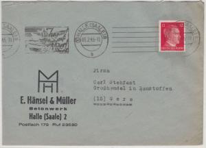 DR - (10) Halle (Saale) 8, 1.2.45, Masch.werbestpl.