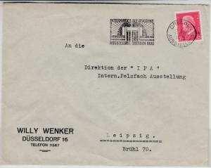 DR - Dresden Int. Hygiene-Ausstellung 1930, Masch.-SST Brief n. Leipzig