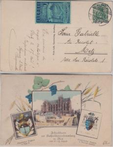 DR - Metz 60. Gen.Vers.der Katholiken Deutschlands 1913 SST Sonderkarte Vignette