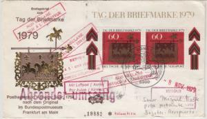 BRD - 2x60 Pfg. Tag d. Briefmarke 1979, FDC n. KOLUMBIEN, ESST Bonn - Bogota