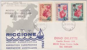Bulgarien - Briefmarkenausstellung Riccione Schmuck-FDC 1963 - Stichwort: Rosen