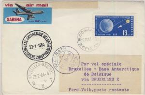 Bulgarien - 13 St. Astronautik-Kongress, Lupo-Brief Sofia - Brüssel - Base