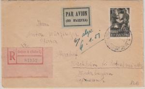 Bulgarien - 60 L. Poststreik Luftpost Einschreibebrief Sofia - Kirchham 1951