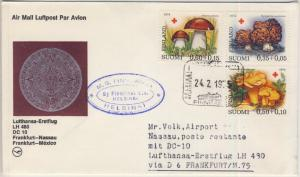 Finnland - Rotes Kreuz 1974/Pilze, Lupo-Brief/Zuleitungspost n. BAHAMAS 1975