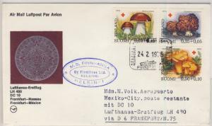 Finnland - Rotes Kreuz 1974/Pilze, Lupo-Brief/Zuleitungspost n. MEXIKO 1975