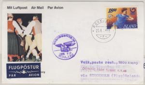 Island - Scandinavian Airlines Zuleitung Olympic Team Flight 1988 n. Seoul