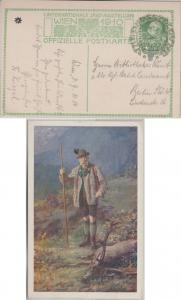 Österreich - 1. Int. Jagdausstellung Wien 1910 Privatganzsac he m. SST n. Berlin