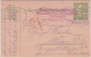 Österreich - Beleuchtungsabteilung 1 L4  illustr. Feldpostkarte Pola - Wien 1915