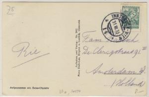Österreich - Bahnpost Innsbruck - Wien 14 Drucksache Feldkirch n. HOLLAND 1935