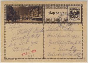 Österreich - Bahnpost Hohenau - Korneuburg 623 10 Gr. Bildganzsache Großrusbach