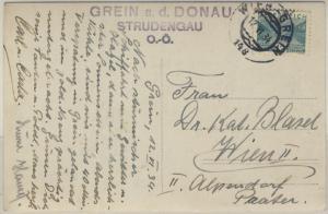 Österreich - Bahnpost Wien - Grein 148 Ansichtskarte Grein n. Wien 1934