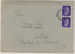 Österreich/Ostmark - Bahnpost Wien - Grein - St. Valentin Brief 1942