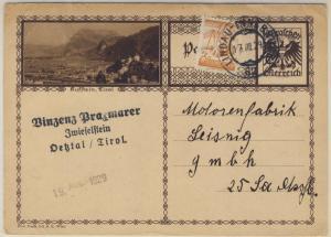 Österreich - Bahnpost Lindau - Innsbruck 62 10 Gr. Bildganzsache Zwieselstein