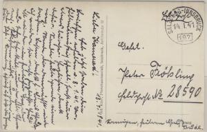 DR - Bahnpost Salzburg-Innsbruck, Zug 197, Feldpostkarte a. Fp.Nr. 28590, 1941