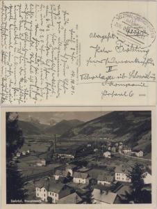 DR - Bahnpost Selzthal-Bischofshofen, Zug 917, Karte Selzthal - Schwiebus 1941