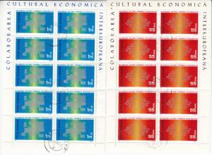 Rumänien - Intereuropa 1971, 2 Kleinbögen (55 B. + 1,75 L.), gestempelt