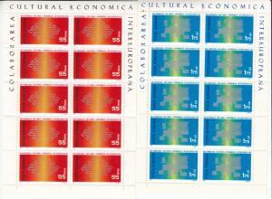 Rumänien - Intereuropa 1971, 2 Kleinbögen (55 B. + 1,75 L.), postfrisch/MNH