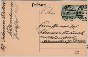 DR-Infla - 1,25 M. Reichspostamt, Karte Vacha (Rhön) - Nürnberg 3.1.22