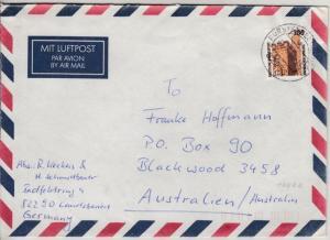 BRD - 300 Pfg. SWK, Lupo-Brief n. AUSTRALIEN, Grafrath - Blackwood 1998