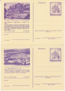 Österreich - 2,50 S. Murau,  Bild-GA-Karte, 4 versch. Motive ungebraucht