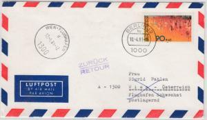 Berlin - 90 Pfg. Sport, Lupo-Brief n. ÖSTERREICH 1981