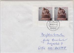 Berlin - 2x40 Pfg. Preußische Museen, Paar/Bogenecke Briefdrucksache 1991