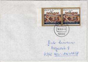 Berlin - 2x50 Pfg. Weihnachten 1988 Mehrfachfrankatur, Brief 1991