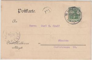 DR - Rheydt (Bz. Düsseldorf) 25.7.04, KOS a. Karte n. München