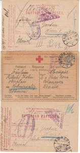 Österreich - 11 Karten/1 Brief Kriegsgefangenenpost, Zensuren, Rotes Kreuz etc