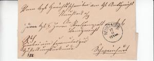 Bayern/All.Bes. - Neustadt /Saale 3 Heimatbelege (Zustellurkunde etc.) 1871/1945