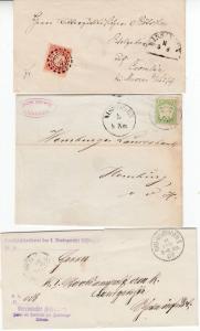 Bayern/DR - Bad Kissingen, interessanter Posten 8 Heimatbelege ca. 1870/1943