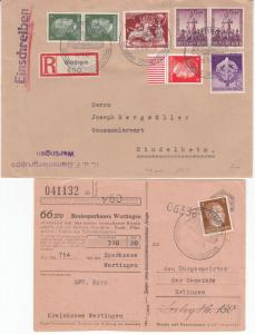 DR/BRD - Wertingen, 6 Heimatbelege/interessantes Pöstchen 1937/62