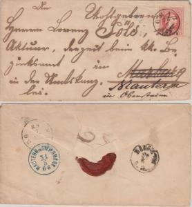 Österreich - 5 Kr. Ganzsache Brief K1 Graz 1868 n. Marburg Weiterleitung Mautern