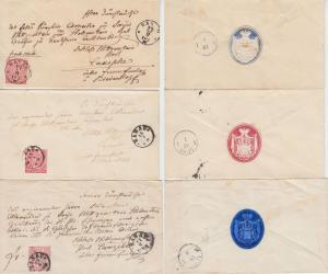 NDP - Hanau 3 adelige Briefe  je 1 Gr. n. Laasphe Sayn Wittgenstein