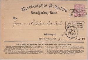 NDP - 1 Gr. Correspondenzkarte Ra3 Magdeburg Stadt-Post-Exped. - Berlin 1870