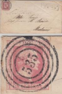 Preussen - 1 Sgr. Fr. Wilhelm Damenbrief 535 Greifswald n. Stralsund ohne Inhalt