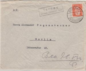 DR - Tarnau Schlawa (Schlesien) Land, Landpost-Ra2 a. Brief n. Berlin 1933