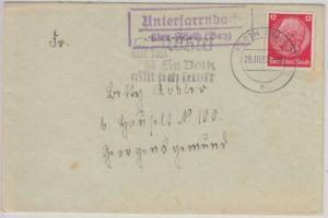 DR - Unterfarrnbach ü. Fürth Landpost-Ra2 Brief n. Georgensgmünd 1939