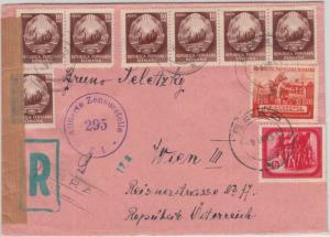 Rumänien - Brad 1953 Einschreibebrief n. ÖSTERREICH, österr. Zensurverschluss