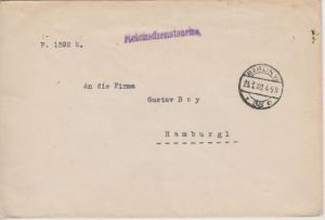 DR - Berlin W35 1920, Reichsdienstsache Reichsstelle f. Gemüse und Obst