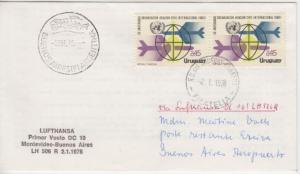 Uruguay - Lufthansa Erstflug Montevideo - Buenos Aires Luftpostbrief 1978